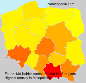 Surname Kubicz in Poland