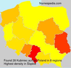 Surname Kubiniec in Poland