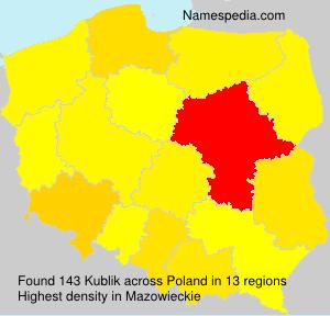 Surname Kublik in Poland