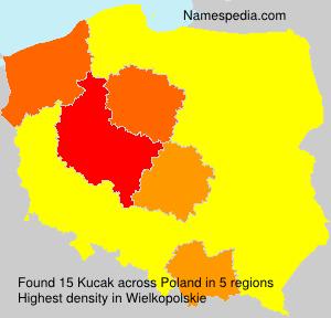 Familiennamen Kucak - Poland