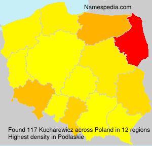 Surname Kucharewicz in Poland