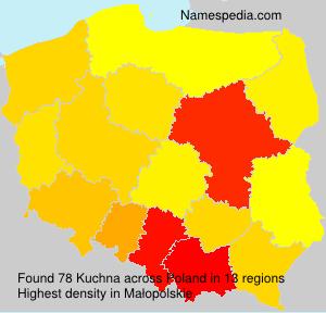 Familiennamen Kuchna - Poland