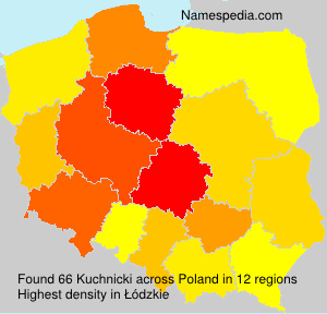 Familiennamen Kuchnicki - Poland
