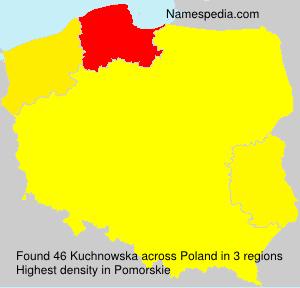 Surname Kuchnowska in Poland