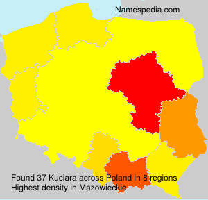 Surname Kuciara in Poland