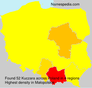 Surname Kuczara in Poland