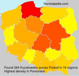 Surname Kuczkowska in Poland