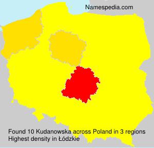 Surname Kudanowska in Poland
