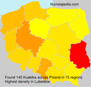Familiennamen Kudelka - Poland