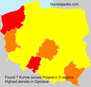 Familiennamen Kuhne - Poland