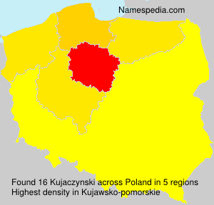 Familiennamen Kujaczynski - Poland