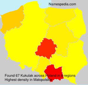 Familiennamen Kukulak - Poland