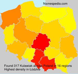 Surname Kulawiak in Poland