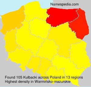 Surname Kulbacki in Poland