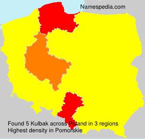 Familiennamen Kulbak - Poland