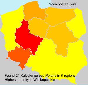 Surname Kulecka in Poland