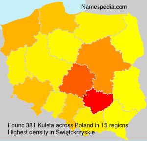Surname Kuleta in Poland
