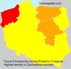 Surname Kuliszenko in Poland