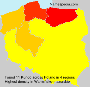 Surname Kundo in Poland