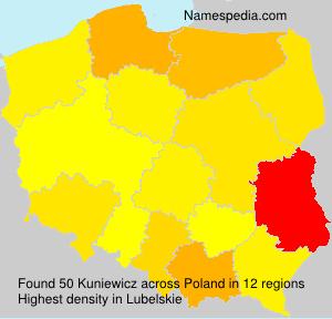 Surname Kuniewicz in Poland