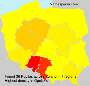 Surname Kupilas in Poland