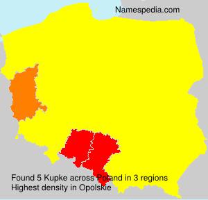 Familiennamen Kupke - Poland