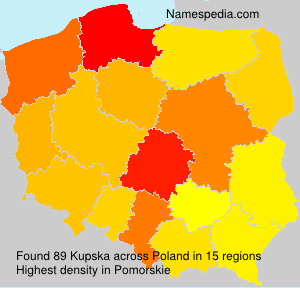 Surname Kupska in Poland