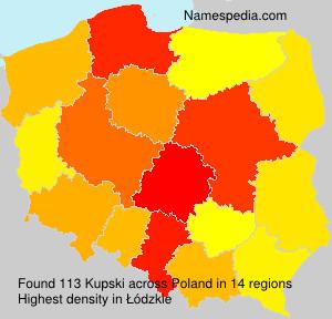 Surname Kupski in Poland