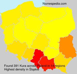Surname Kura in Poland