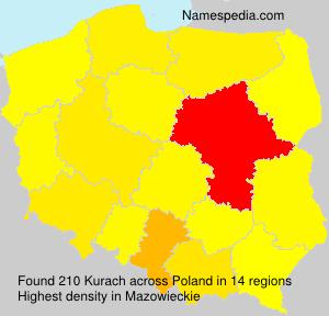 Surname Kurach in Poland