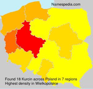 Surname Kurcin in Poland