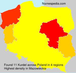Familiennamen Kurdel - Poland