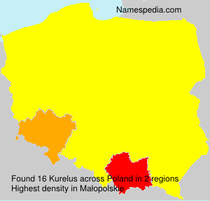 Surname Kurelus in Poland