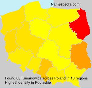 Familiennamen Kurianowicz - Poland