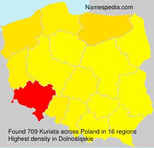 Surname Kuriata in Poland