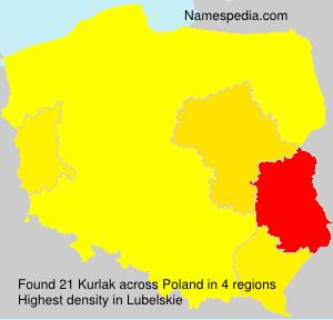 Surname Kurlak in Poland