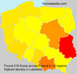 Familiennamen Kursa - Poland