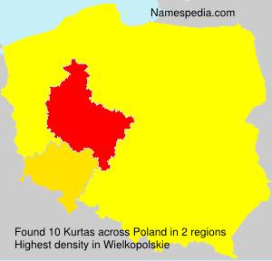 Surname Kurtas in Poland