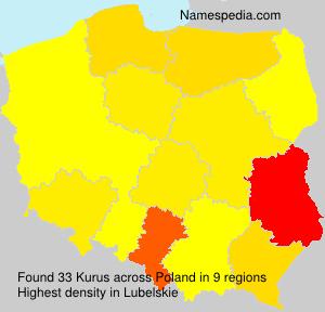 Familiennamen Kurus - Poland