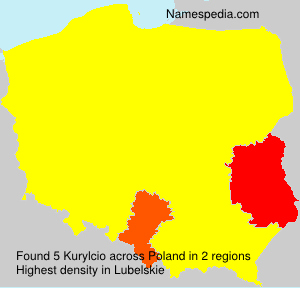 Surname Kurylcio in Poland