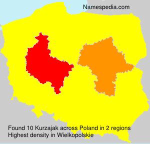 Surname Kurzajak in Poland