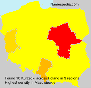 Surname Kurzecki in Poland