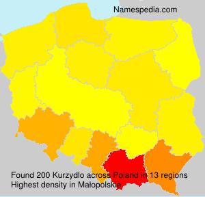 Surname Kurzydlo in Poland
