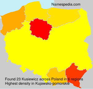 Surname Kusiewicz in Poland