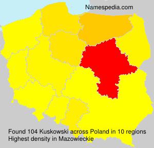 Surname Kuskowski in Poland