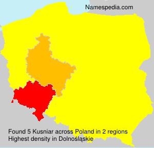 Surname Kusniar in Poland