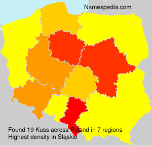 Surname Kuss in Poland