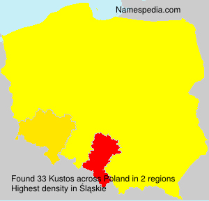 Surname Kustos in Poland