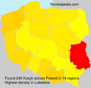 Surname Kusyk in Poland