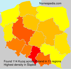 Surname Kuzaj in Poland